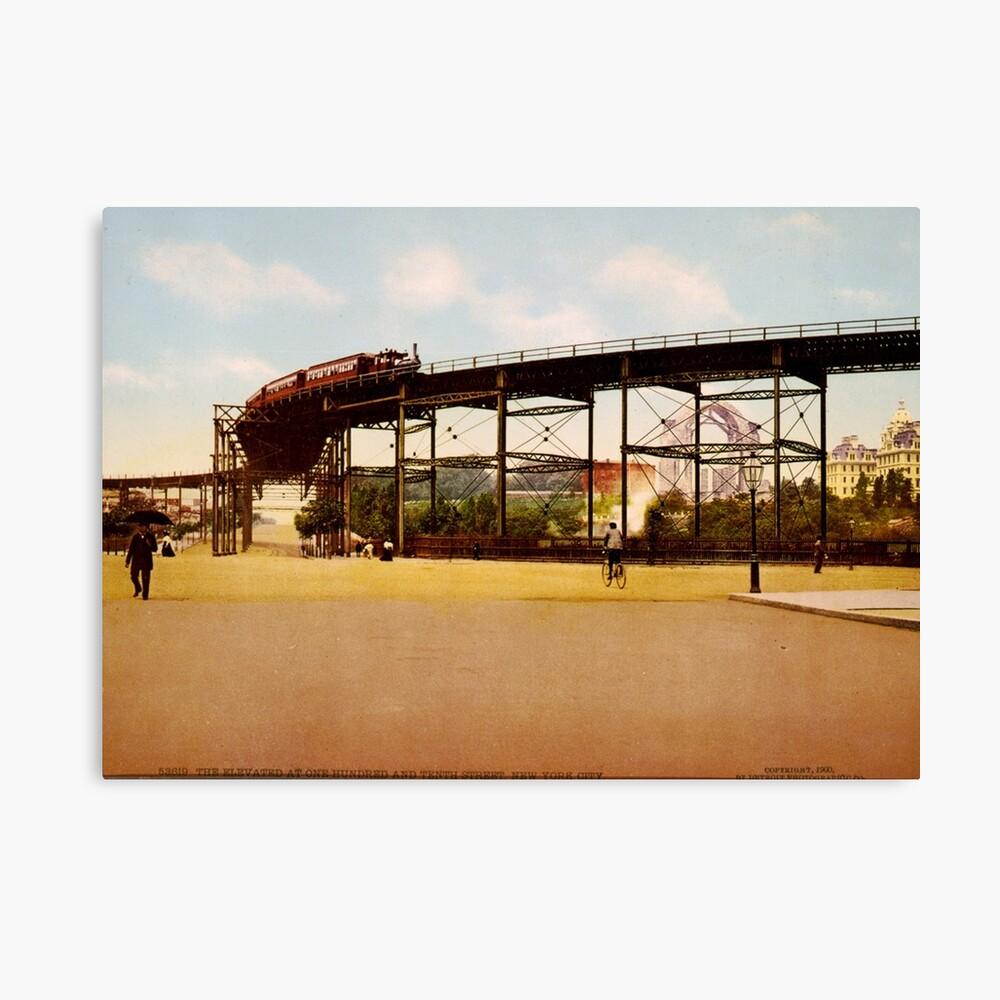 Elevated Train at 110th Street NYC Photo-Print Lienzo
