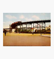 Lámina fotográfica Elevated Train at 110th Street NYC Photo-Print