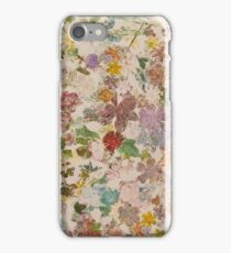 Pressed flowers iPhone Case/Skin
