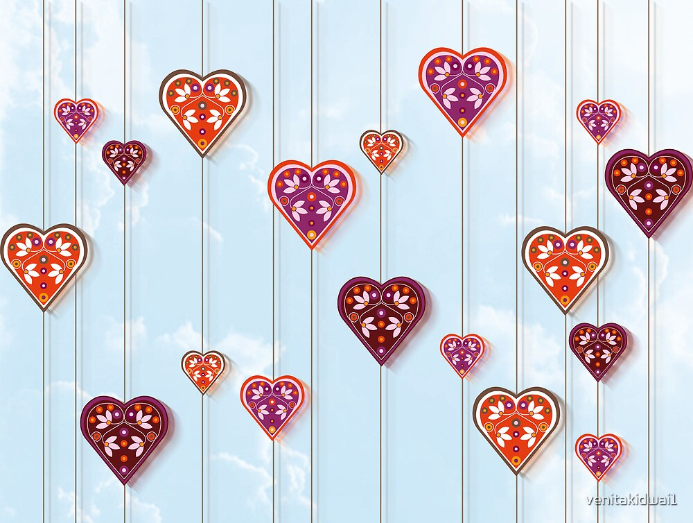 Hanging Hearts by venitakidwai1