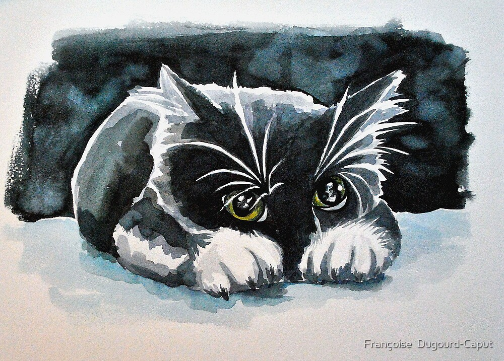 Le guetteur(the watcher) featured in The Group, Painters Universe, in Art Universe, Cat's Pajamas, Best of Redbubble by Françoise  Dugourd-Caput
