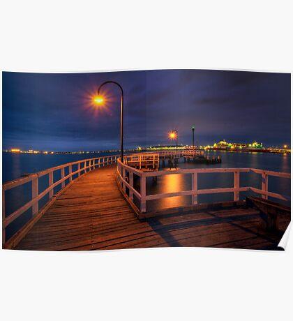 Lagoon Pier Poster