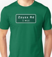 Zzyzx, Road Marker, California, USA Unisex T-Shirt