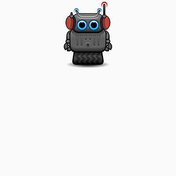 Robot with headphones by Pango