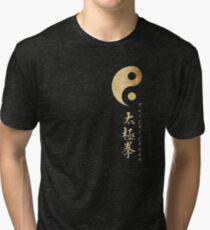 Yin Yang Tai Chi Symbol Tri-blend T-Shirt