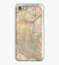 Vinage Map of The United States (1873) iPhone Case/Skin