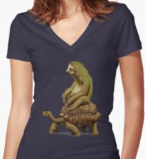 Speed is Relative Women's Fitted V-Neck T-Shirt