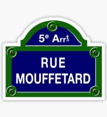 Rue Mouffetard, Paris Street Sign, France Sticker