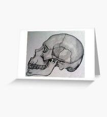 Penciled Skull Greeting Card