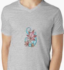 Sinn des Herbstes T-Shirt mit V-Ausschnitt