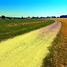 Lonely countryside gravel road by Patrick Jobst