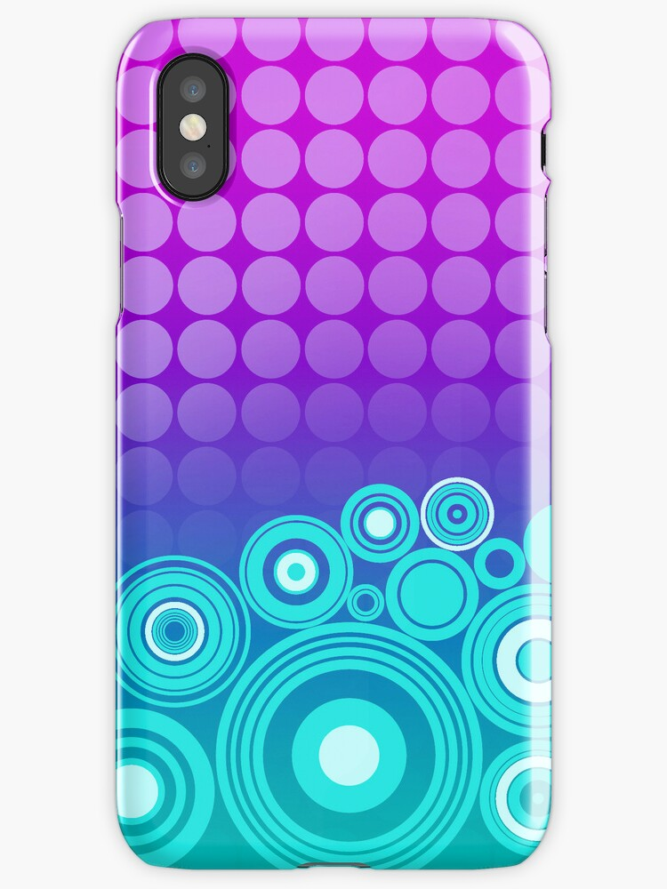 Concentrics - Green Blue Purple [iPhone/iPod case] by Damienne Bingham