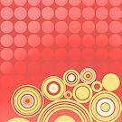 Concentrics - Red|Orange [iPhone/iPod case] by Didi Bingham
