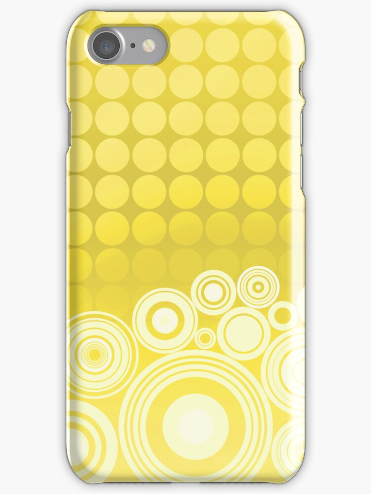 Concentrics - Lemon [iPhone / iPod case] by Damienne Bingham
