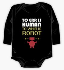 To Err Is Human, To Whir Is Robot (light design) One Piece - Long Sleeve