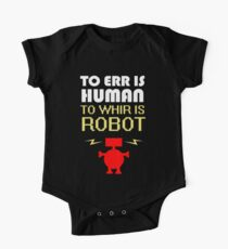 To Err Is Human, To Whir Is Robot (light design) One Piece - Short Sleeve