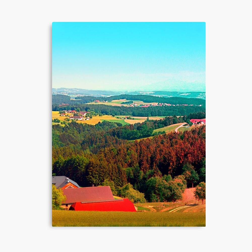 Spring, hot sun, and lots of scenery Canvas Print