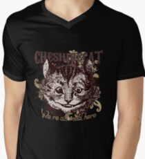 Cheshire Cat Carnivale Style Mens V-Neck T-Shirt