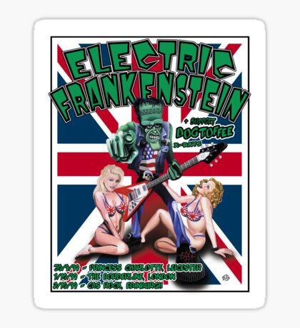 Electric Frankenstein 1999 UK Tour Poster Sticker