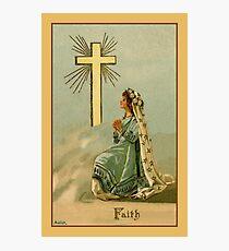 Vintage Faith devotional religious Photographic Print