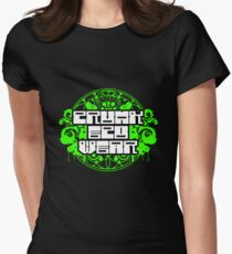 Crunk Eco Wear Official Merch no text Women's Fitted T-Shirt