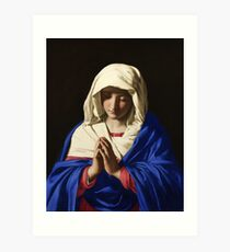 The Virgin in Prayer by Giovanni Battista Salvi da Sassoferrato Art Print