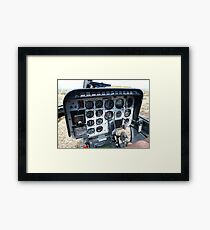 Helicopter control panel Framed Print