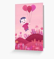 In vally of flowers Greeting Card