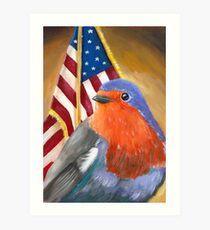 Bird for President! Birdie Sanders Art Print