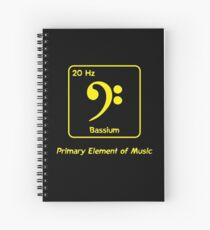 Bassium -- Primary Element of Music Spiral Notebook
