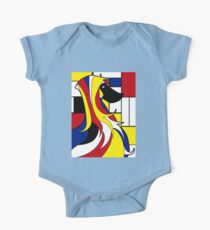 Mondrian dog One Piece - Short Sleeve
