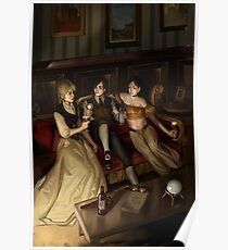 Steampunk 3 of Cups Poster