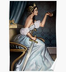 Steampunk Queen of Swords Poster