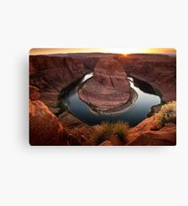 Horseshoe Bend Sunset Canvas Print