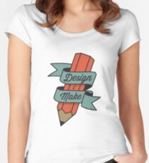 Design & Make Women's Fitted Scoop T-Shirt