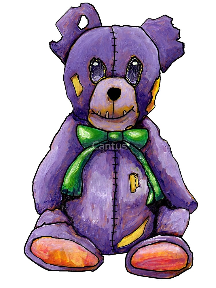Purple Zombie Bear Von Cantus Redbubble