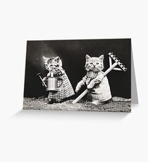 Vintage Puppies and Kittens Note Cards Greeting Card
