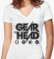 Gear Head Women's Fitted V-Neck T-Shirt