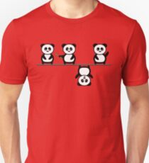 Another perspective for the panda Unisex T-Shirt