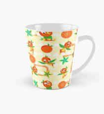 Orangener Vogel Tasse (konisch)