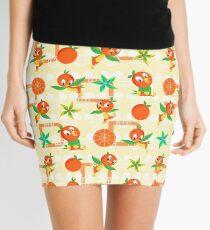 Orange Bird Mini Skirt