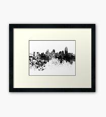 Cincinnati-Skyline im schwarzen Aquarell Gerahmtes Wandbild