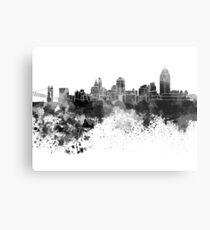 Cincinnati-Skyline im schwarzen Aquarell Metalldruck