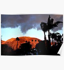 WINDY CLOUDY SUNRISE OVER MOUNTAIN Poster