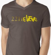 221BELIEVE Men's V-Neck T-Shirt