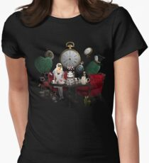 Alice In Wonderland Collage Womens Fitted T-Shirt