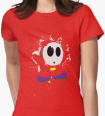 Splattery Shy Guy Style 1 Women's Fitted T-Shirt