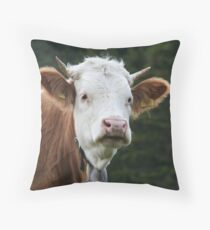 Heidi's Cow- Murren, Switzerland Throw Pillow