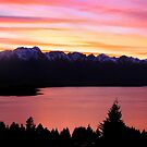 The Remarkables at Sunset by Jill Fisher
