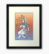 Alice and Cards part one Framed Print
